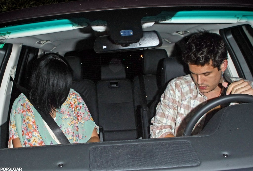 John Mayer and Katy Perry left an LA restaurant together.