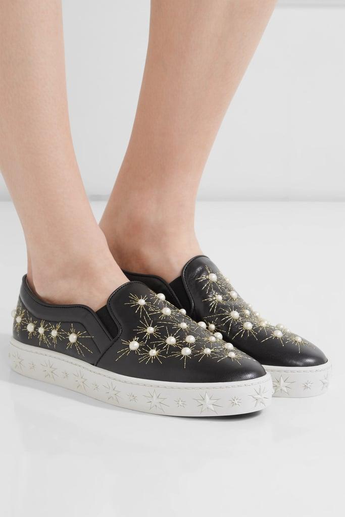 Aquazzura Cosmic Embellished Slip-On Sneakers best sale cheap price fVUHMqZ2b