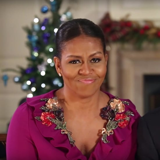 Michelle Obama Gucci Dress Holiday Address 2016