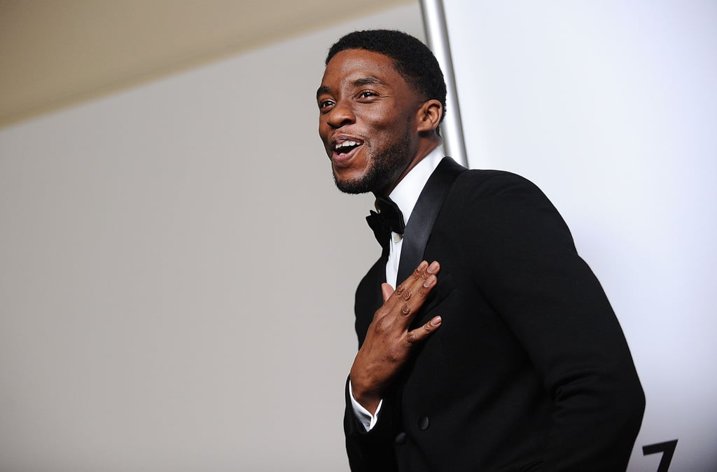 Chadwick Boseman is finally getting the attention he so deserves. He's been in handfuls of TV shows since the early 2000s, and the South Carolina-born star broke out playing Jackie Robinson in 2013's 42. Since then, he's acted opposite Kevin Costner and portrayed the legendary James Brown, but his latest role is the biggest deal of all: Black Panther. Boseman, who is unbelievably 41 years old, made his debut as the superhero in Captain America: Civil War, which was really just an introduction before his upcoming stand-alone film. Ahead of Black Panther's release date on Feb. 16, take a look at some of Chadwick's sexiest moments.       Related:                                                                                                           Everything You Need to Know About Your Superhero Bae, Chadwick Boseman