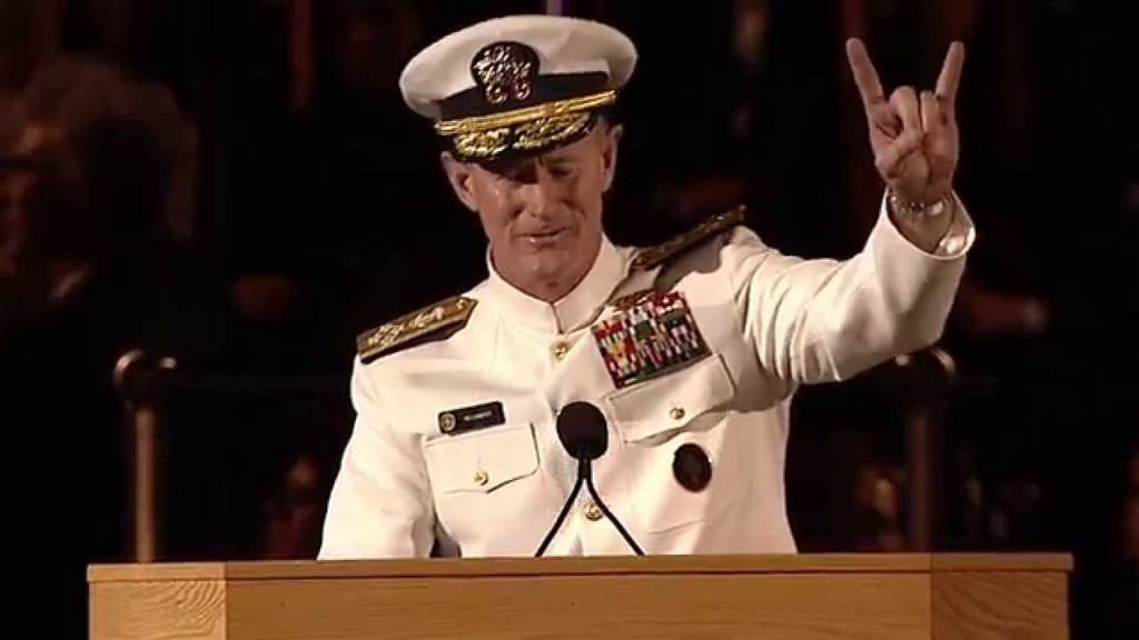 Admiral William H. McRaven's Commencement Address, University of Texas at Austin (2014)