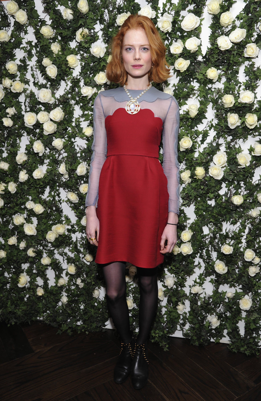Jessica Joffe at W magazine's Golden Globes luncheon.