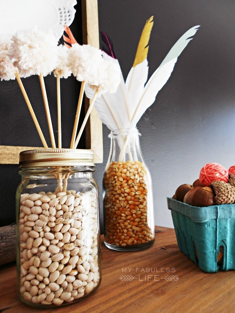 Snack Filled Mason Jar 12 Gorgeous Mason Jar Thanksgiving Decorating Ideas Popsugar Home Photo 12