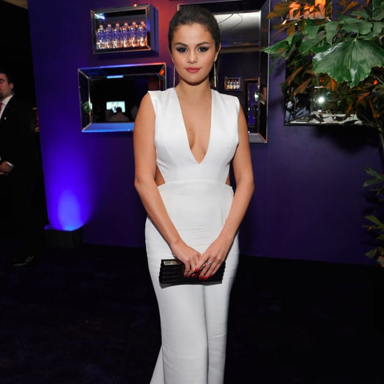Selena Gomez White Dress With The Weeknd