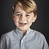 Prince George looked all grown up in an official portrait for his fourth birthday.