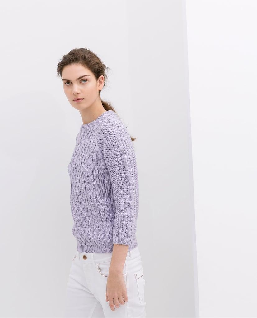 Zara Fancy Knit Sweater ($26)