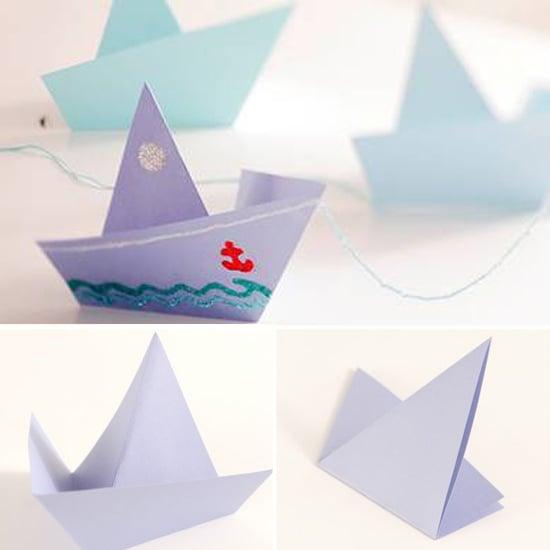 Origami Sailboats