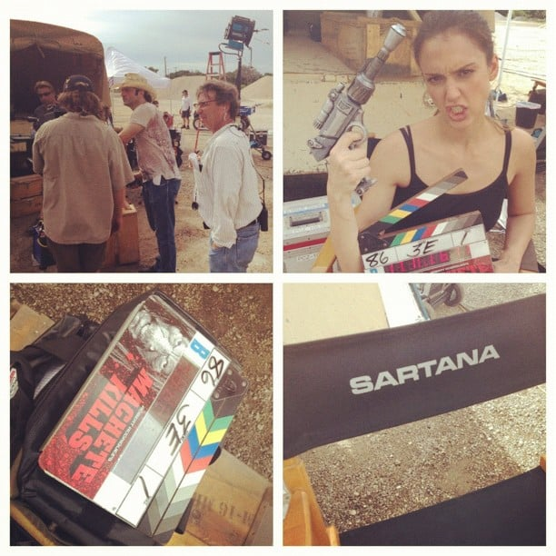 Jessica Alba shared snaps from her day on the set of Machete Kills. Source: Instagram user therealjessicaalba