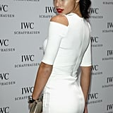 Adriana Lima heated it up in a white dress for the evening's gala.