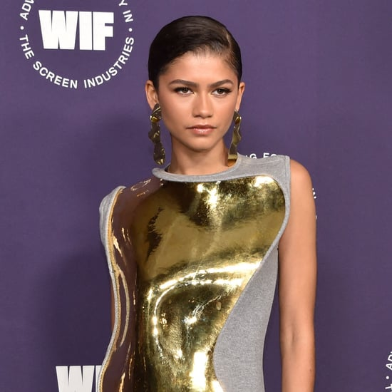 Zendaya's Gold-Plated Loewe Dress at Women in Film Honours