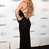 And She Knew We'd Swoon Over the Back Detail of Her Dress