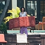 Russell Brand Sunbathes in His Underwear, Jet-Skis, and Shops Miami