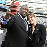 Warren Sapp snapped a selfie with Jennifer Garner.