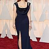 She wore a Givenchy dress and shoes with Piaget jewels to the 2015 Academy Awards.