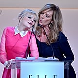 Emma Stone and Allison Janney got silly on stage during Elle's Women in Hollywood event in October 2012.