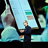 Tim Cook presents the updated iPad, available March 16.