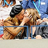 Cara Delevingne and Ashley Benson at the US Open