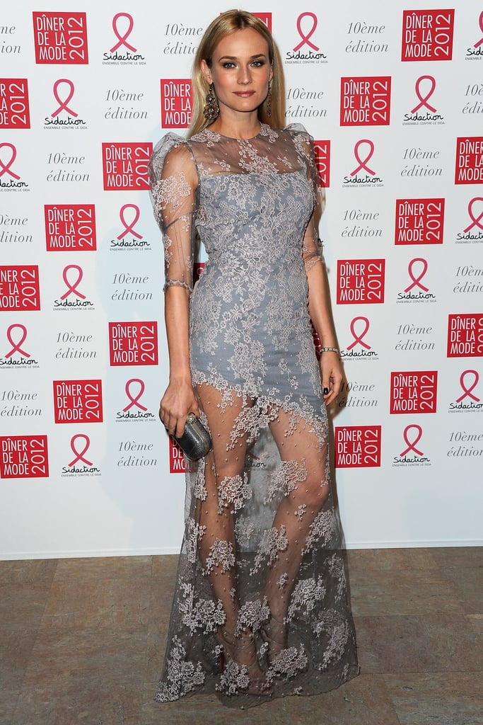 Diane Kruger attended the 10th annual Sidaction benefit in Paris.