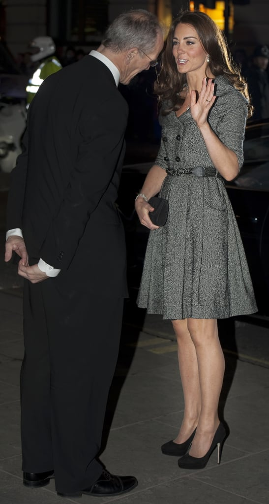 Kate Middleton at London's National Portrait Gallery.
