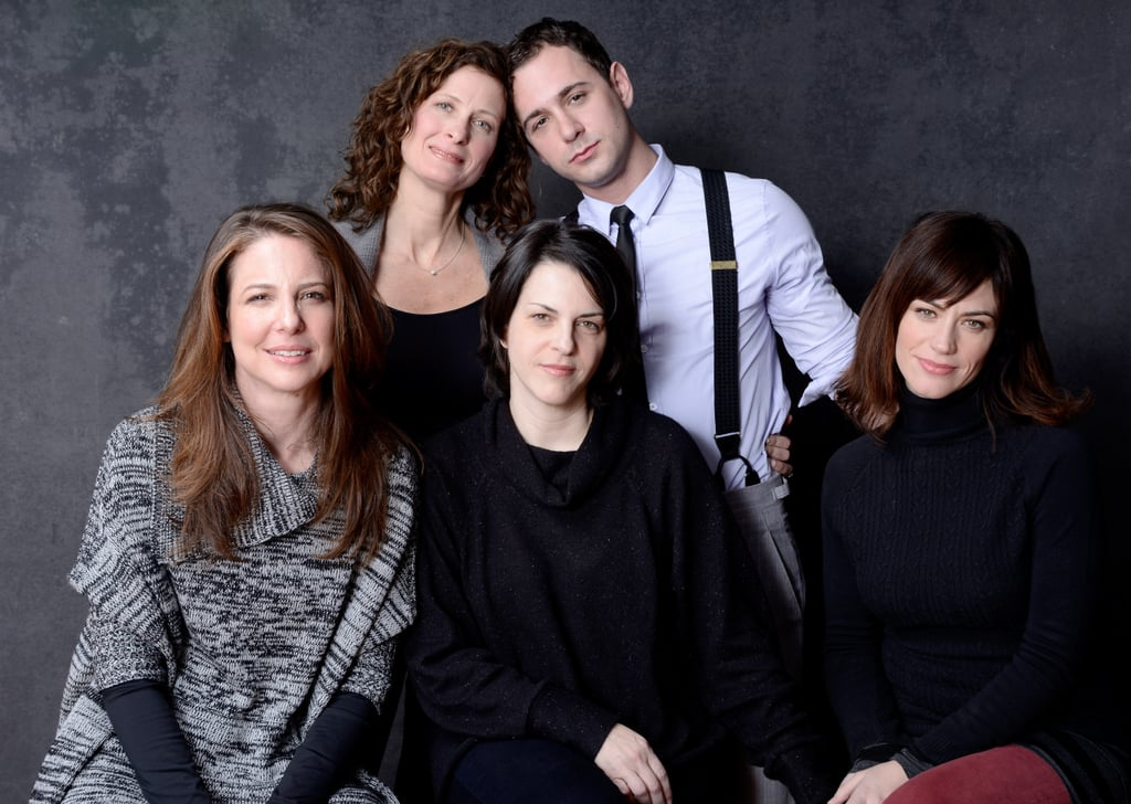 Julie Fain Lawrence, Johnathan Tchaikovsky, Robin Weigert, director Stacie Passon and Maggie Siff got close for a group shot to promote Concussion.