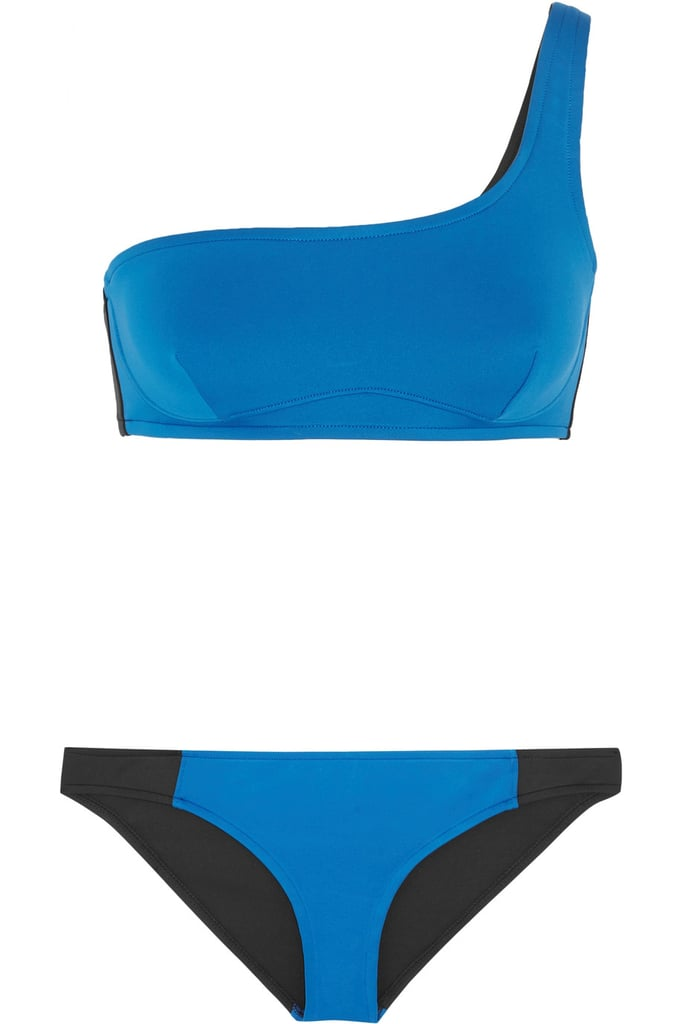 Stella McCartney Iconic Colour Block One-Shoulder Bikini, $378