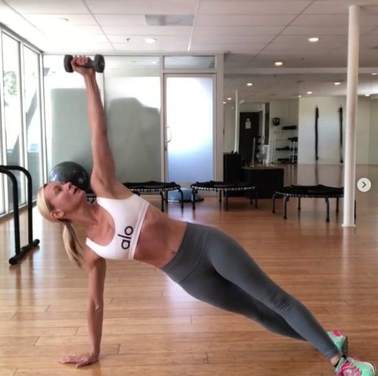 SImone De La Rue Plank Workout