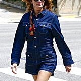 Julia Roberts Wore a Denim Playsuit Over the Weekend — AKA the Perfect Throw-On-and-Go Look
