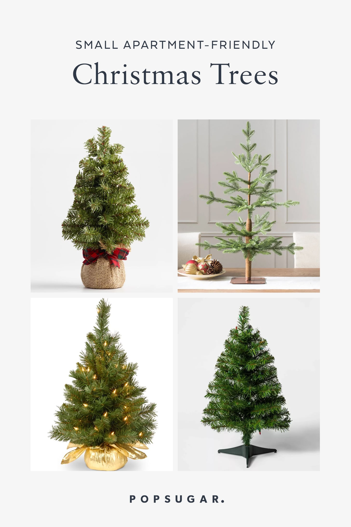 Small Christmas Trees Perfect For Apartments Popsugar Home