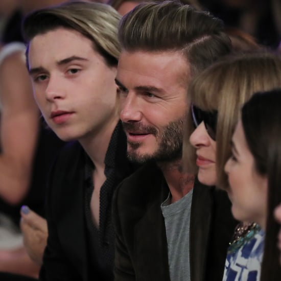 David and Brooklyn Beckham at Victoria's Fashion Show 2016