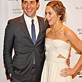 John Krasinski and Emily Blunt laughed on the red carpet in NYC.