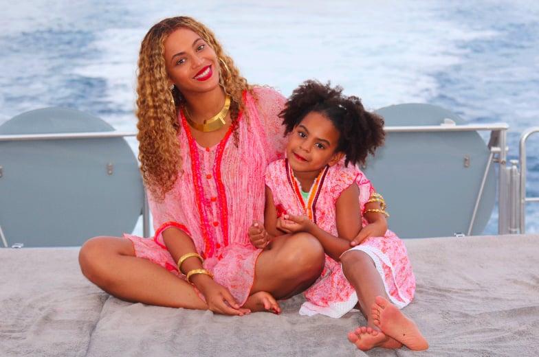 499ee4b56b6 Beyoncé and Blue Ivy in Pink Cover-Ups 2018