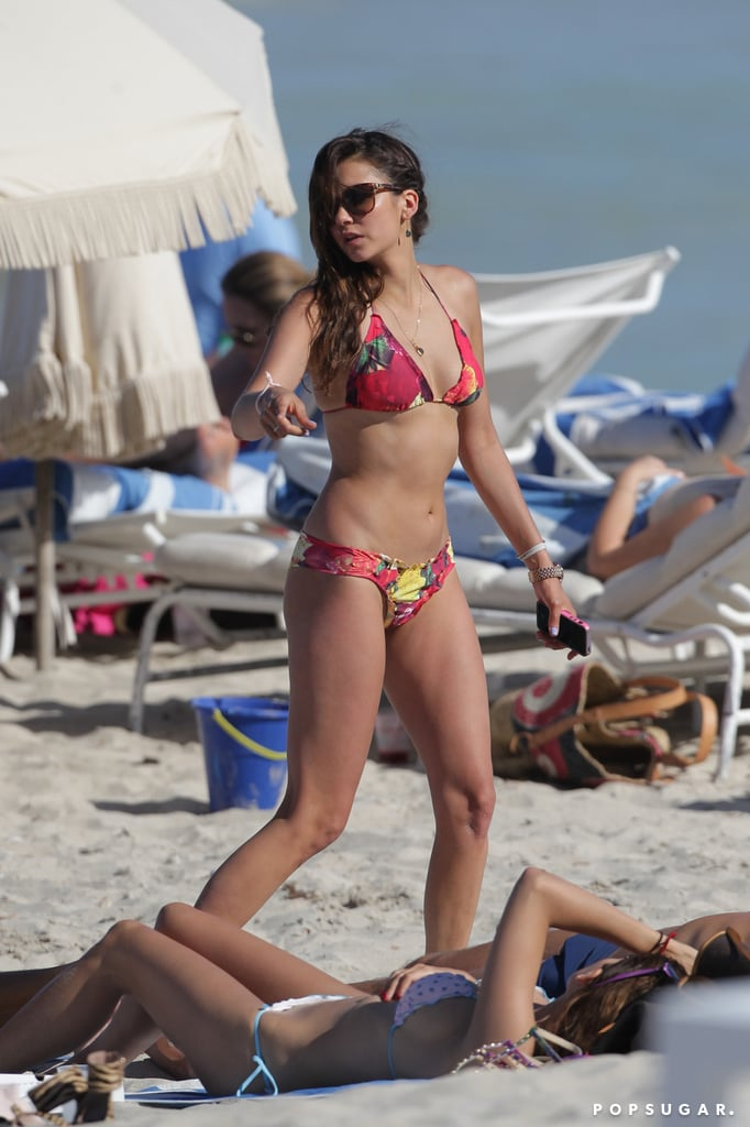 She hit up Miami in April 2013 in a floral two-piece.