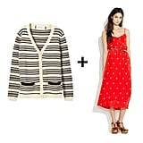 Play with prints on a striped cardigan and floral-patterned dress for a sweet style that translates easily from day to day, Spring to Summer.  Marni Long Sleeve Cardigan ($645), Madewell Roseblossom Sundress ($198)