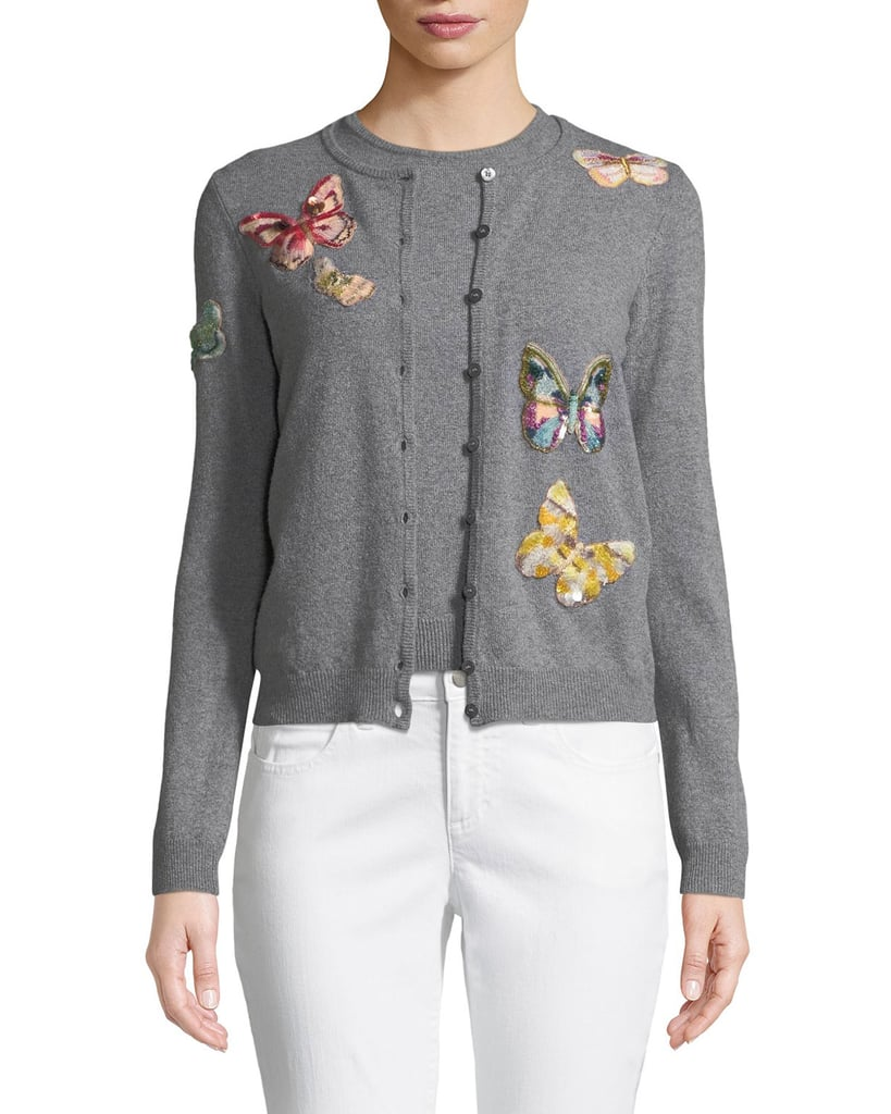 60f67ccbd Valentino Butterfly-Embroidered Cardigan Set