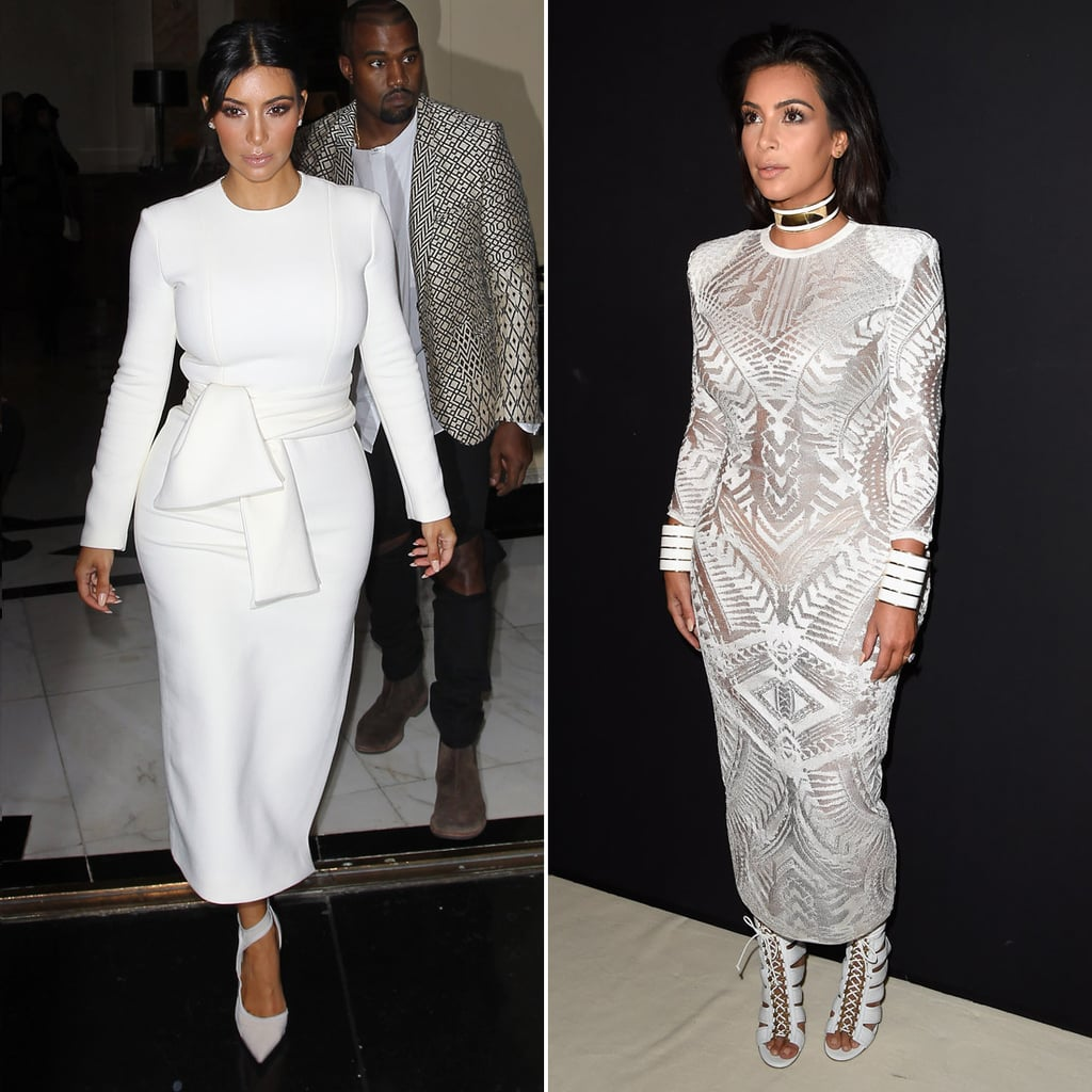Kim Kardashian at Paris Fashion Week Spring 2015