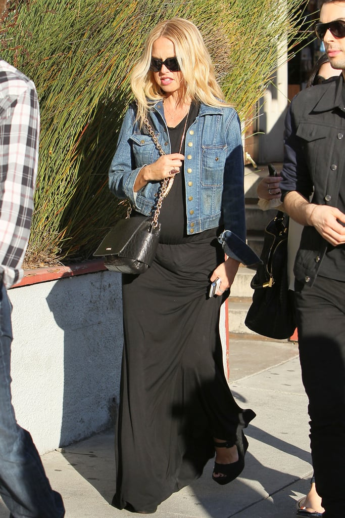 Pictures of Pregnant Rachel Zoe Shopping in LA With Joey Maalouf and Rodger Berman