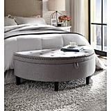 Chic Home Kelly Tufted Half Moon Storage Ottoman
