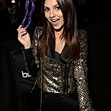 Victoria Justice was in a playful mood at Beyoncé's show.