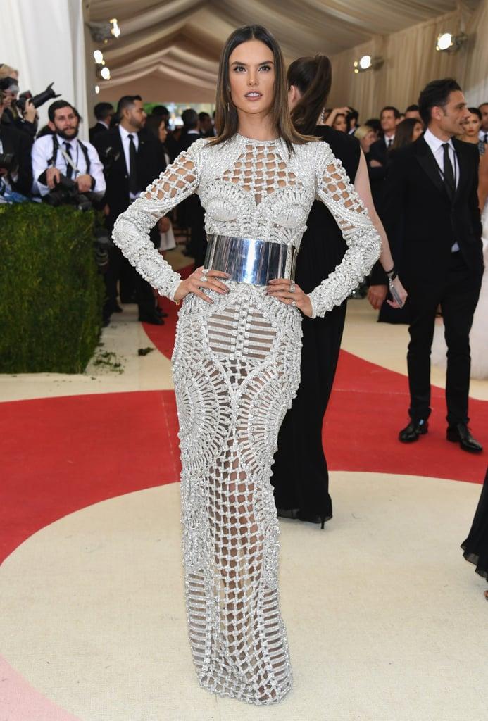 Alessandra Ambrosio Balmain Dress Met Gala 2016