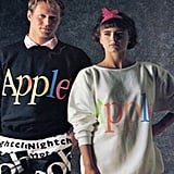 While it's hard to imagine Steve Jobs walking through the office barefoot and sporting one of these bright tops, if you were alive in 1986, you could have rocked Apple's colorful clothing collection. Source: Imgur user rickh3255