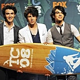 The Jonas Brothers at the Teen Choice Awards in 2008