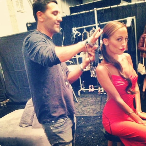 Nicole Richie gave InStyle a peek at her final preps before hosting the Style Awards. Source: Instagram user instylemagazine