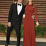 Adam Levine and Behati Prinsloo stuck close at the Vanity Fair party.