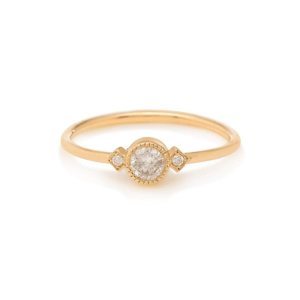 Gray Diamond Sotto Voce Ring