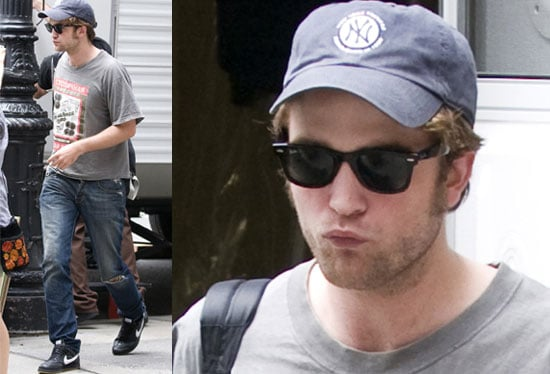 Robert Pattinson Chewing Things Over On Remember Me Set