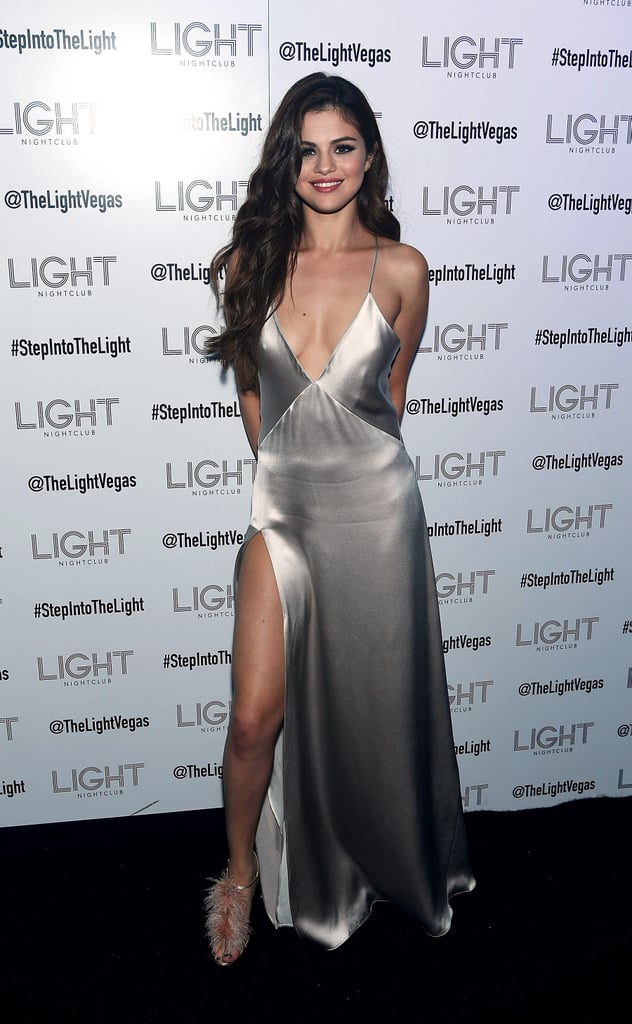 "Is it even possible for Selena Gomez to be more gorgeous? After kicking off her Revival Tour in Las Vegas on Friday, the ""Good For You"" singer made her way to the Light nightclub to celebrate with friends. In addition to showing off a whole lot of leg in a low-cut silver number, Selena linked up with pal Sami Miró, who recently split from boyfriend Zac Efron, and even took to Instagram to share photos from her concert. Earlier this week, Selena drew eyes when she popped up at the Met Gala in NYC looking like the epitome of cool. Read on to see more of Selena's sexy night out, and then check out her recent spread in GQ magazine."