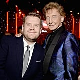 Pictured: Barry Manilow and James Corden