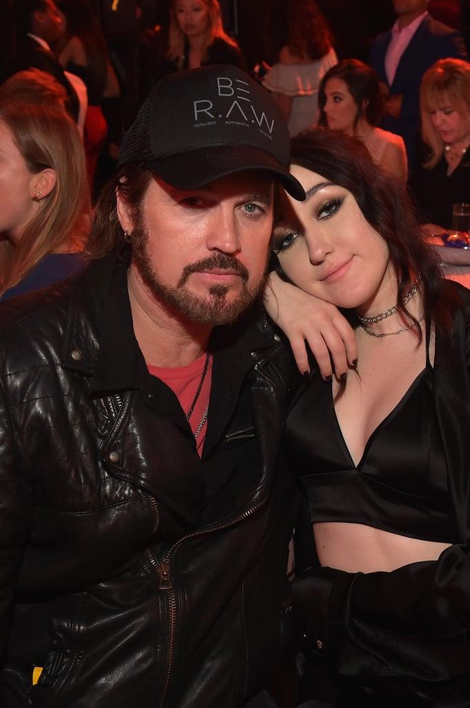 Noah and Billy Ray Cyrus at the MTV Movie and TV Awards 2017