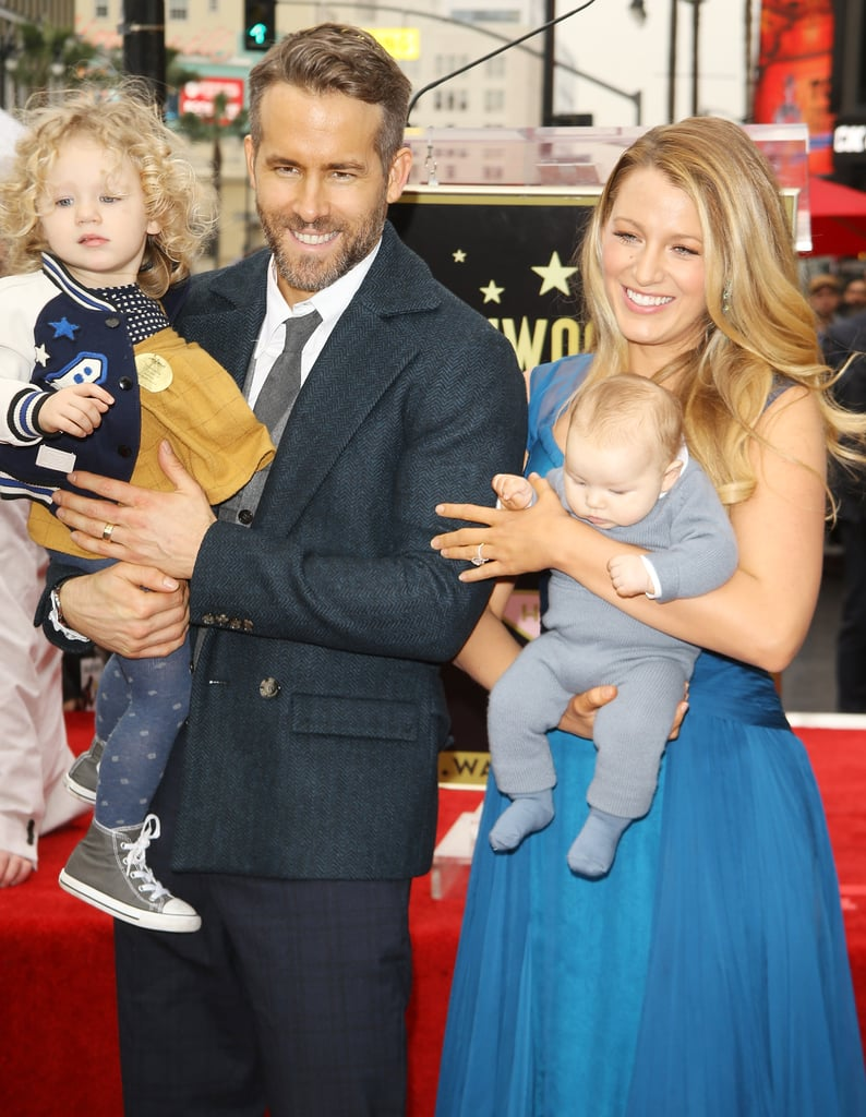 "They're here! And they're adorable! Blake Lively and Ryan Reynolds's kids made their first official public appearance on Thursday when their dad was honoured on the Hollywood Walk of Fame in LA. During his star ceremony, Blake and their two little ones were on hand to congratulate the Deadpool actor and offer their support. While their baby girl (her name has yet to be revealed), who was born in September, sat quietly in Blake's arms, their older daughter, James, who turns 2 on Dec. 16, was adorably running all over the place. In a sweet video of the ceremony, Blake can be heard calling her daughter ""J"" as she grabs the microphone and has fun with photographers. Ryan also took the time to thank his wife during his speech, saying, ""You make everything better. You make everything in my life better. You've given me two of the most incredible children I've ever hoped to have."" It's official: we need more of this family in our lives!      Related:                                                                Why Ryan Reynolds and Blake Lively Are the Cutest Couple                                                                   Blake Lively and Ryan Reynolds's Quotes About Each Other Further Prove They're a Match Made in Heaven"