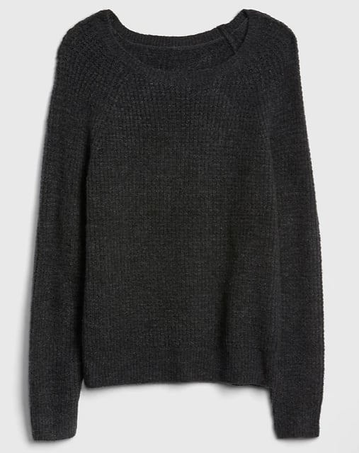 Waffle Stitch Pullover Sweater